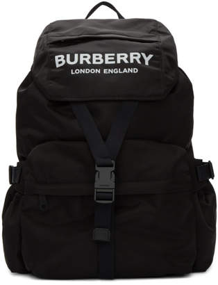Burberry Black Wilfin Backpack