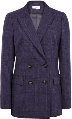 Reiss Cora Jacket - Double-breasted Blazer in Navy