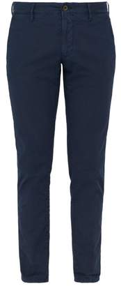 Incotex Slim Fit Stretch Cotton Twill Chino Trousers - Mens - Navy