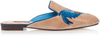 Dolce & Gabbana Printed Velvet Slippers