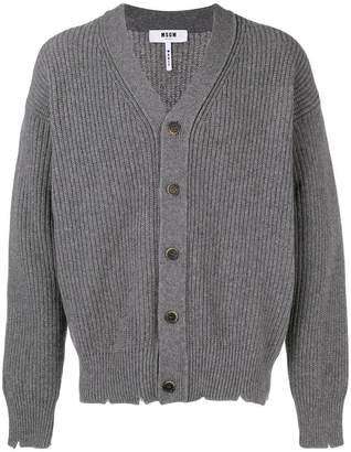 MSGM distressed knit cardigan