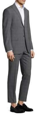 Corneliani Regular-Fit Plaid Wool Suit