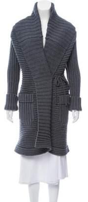 Dolce & Gabbana Wool-Blend Knit Cardigan w/ Tags Blue Wool-Blend Knit Cardigan w/ Tags