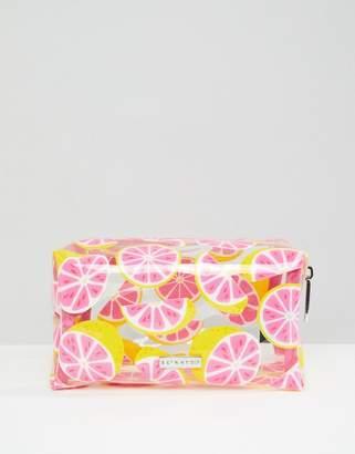clear Skinnydip Grapefruit Make Up Bag