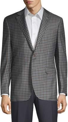 Canali Plaid Wool Jacket