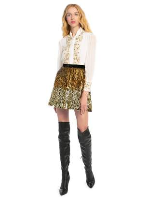 Alice + Olivia Cina Sequin Mini Skirt
