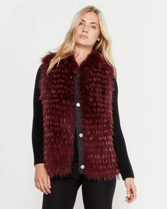 Intuition Paris Dyed Real Fur Vest