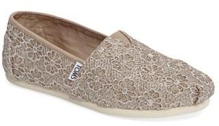 Women's Toms 'Classic Crochet Glitter' Slip-On $58.95 thestylecure.com