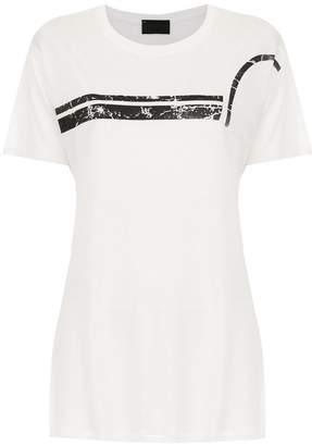 Andrea Bogosian t-shirt whit stripe front detail