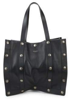 Moschino Studded Leather Tote