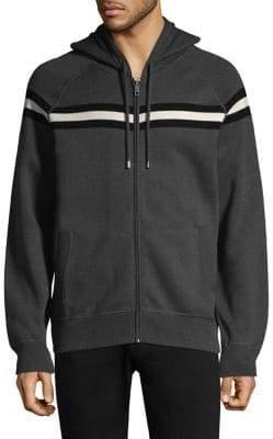 Bally Knit Raglan Zip-Front Hoodie