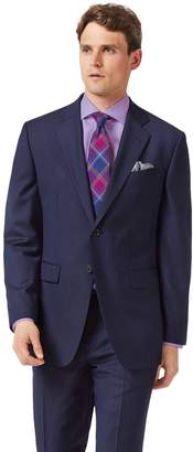 Charles Tyrwhitt Blue Classic Fit Twill Business Suit Wool Jacket Size 38
