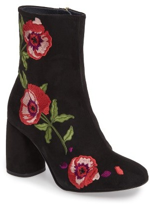 Topshop Women's Topshop Madam Embroidered Bootie