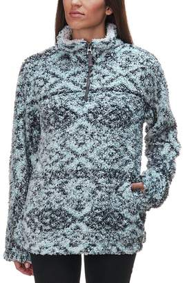 Dylan Patterned Frosty Tipped Pile Stadium Pullover - Women's