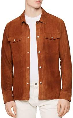 Reiss Mick Suede Relaxed Fit Shirt