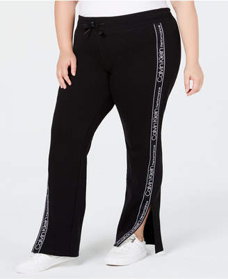 Calvin Klein Plus Size Vented Fleece Pants