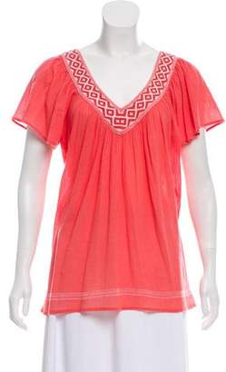 Joie Short Sleeve V-Neck Top