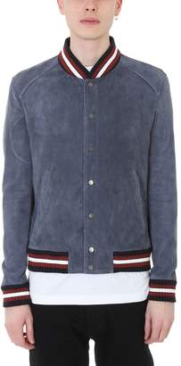 Drome Blue Leather Jacket
