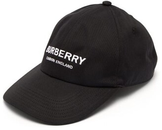 0454d06bc59 Burberry Logo Embroidered Cotton Twill Cap - Mens - Black