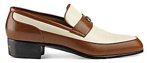 Gucci Men's Leather Loafer with Team Motif