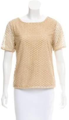 Diane von Furstenberg Guipure Lace Short Sleeve Top w/ Tags