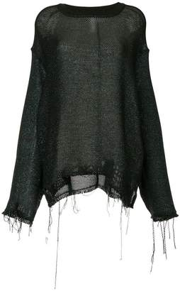 Song For The Mute distressed effect sweater