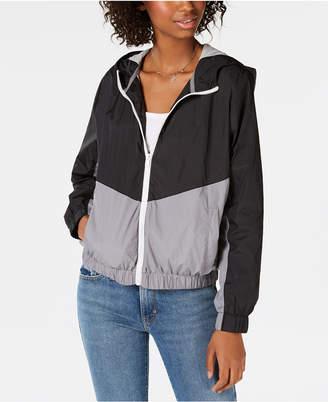 Hippie Rose Juniors' Colorblocked Windbreaker Jacket