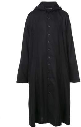Yohji Yamamoto hooded button-up jacket