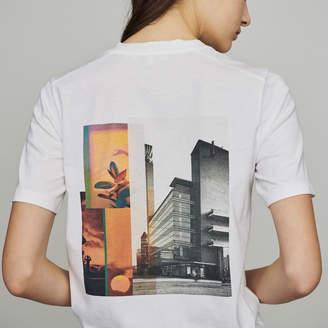 Maje Tee-shirtwith slogan and print