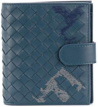 Bottega Veneta embroidered intrecciato mini wallet