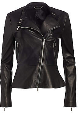 Jonathan Simkhai Women's Leather Moto Jacket - Size 0