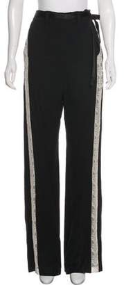 Ann Demeulemeester High-Rise Flared Pants Black High-Rise Flared Pants