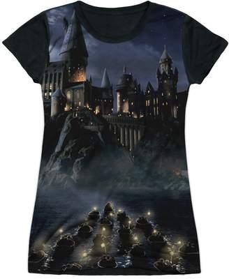 Harry Potter Hogwarts Short Sleeve Junior Poly Black Back