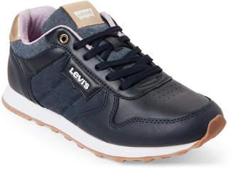 Levi's Navy Tessa Chambray Jogger Sneakers