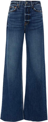 GRLFRND Denim Carla High-Rise Flared Jeans