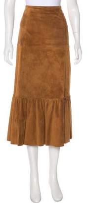 Max Mara Weekend Suede Midi Skirt