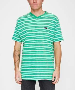 Storeroom Vintage Vintage Brand Tommy Stripe T-shirt Green (Xxl)
