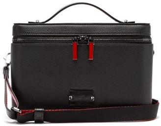 Christian Louboutin Kypipouch Leather Box Pouch - Mens - Black Multi