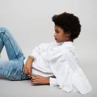 Maje Ruffled cotton poplin blouse