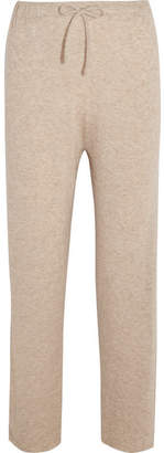 Pepita Cashmere And Silk-blend Track Pants - Beige