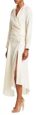 Jacquemus Sabah Linen Faux Wrap Maxi Dress
