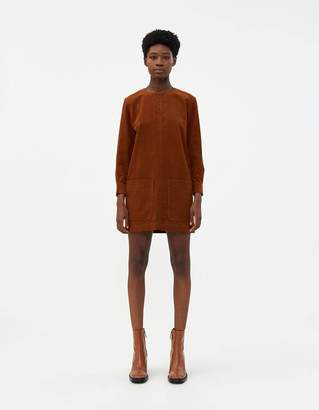 A.P.C. Andrea Corduroy Dress in Caramel