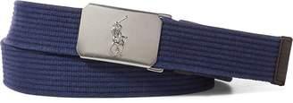 Ralph Lauren Plaque-Buckle Cotton Belt