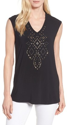 Women's Chaus Embellished A-Line Tee $69 thestylecure.com