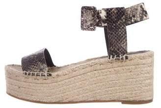 Vince Embossed Platform Sandals