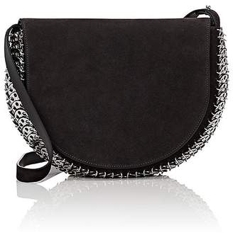 Paco Rabanne Women's 14#02 Half Moon Suede Crossbody Bag