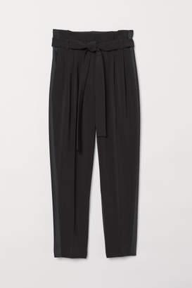 H&M Tuxedo Pants with Belt - Black