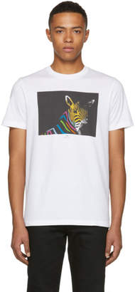 Paul Smith White Slim Fit Large Zebra T-Shirt