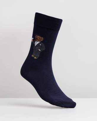 Polo Ralph Lauren Single Tuxedo Bear Socks