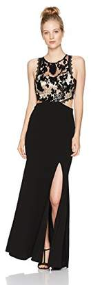 My Michelle Women's Lace Top Gown with Cut Outs